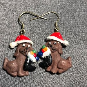 NEW Holiday Dog Earrings